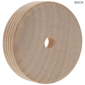 "Wood Tread Wheels With 3/8"" Hole"