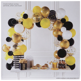 Yellow, Black & Gold Bee Balloon Arch Kit