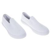 White Women's Slip-On Sneakers