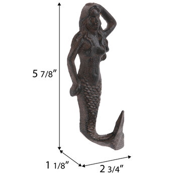 Mermaid Metal Wall Hook