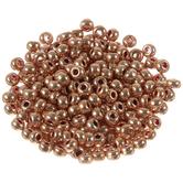 Metallic Rose Gold Czech Glass Seed Beads - 6/0