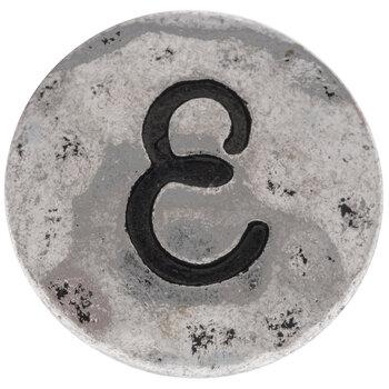 Hammered Letter Mini Snap Charm - E