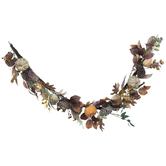 Pumpkin & Pinecone Garland With Eucalyptus Leaves