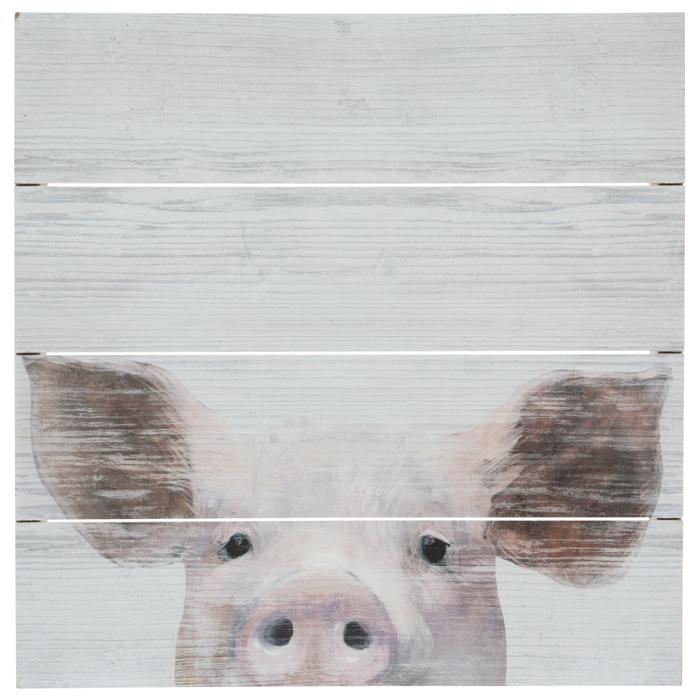Close Up Pig Wood Wall Decor Hobby Lobby 1820976