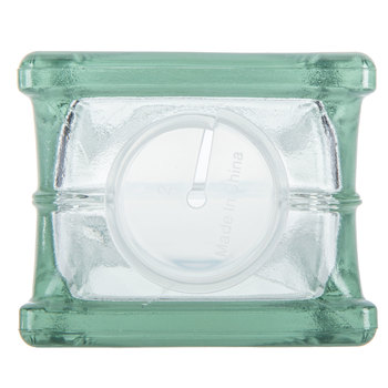 """Glass Block with Hole - 4"""" x 8"""""""