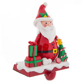 Santa Claus Metal Stocking Holder