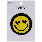 Sequin Emoji Iron-On Applique
