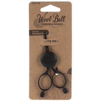 "Black Wool Ball Embroidery Scissors - 3 15/16"""