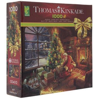 Thomas Kinkade Santa Under The Tree Puzzle
