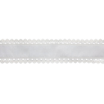 """Sheer & Lace Wired Edge Ribbon - 2 1/2"""""""