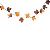 Orange & Brown Leaves Garland