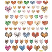 Animal Print Heart Foil Stickers