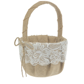 Burlap & Lace Flower Basket
