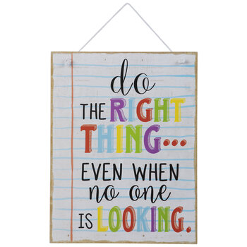 Do The Right Thing Wood Wall Decor