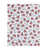 "Doodle Poinsettia Scrapbook Paper - 8 1/2"" x 11"""