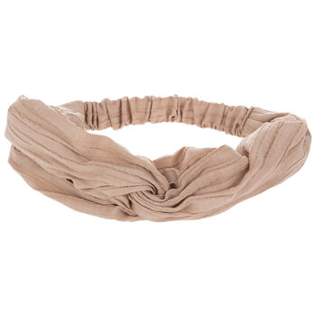 Tan Looped Fabric Elastic Headband