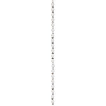 White Round Silicone Bead Strand - 6mm