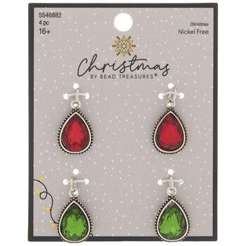 Red & Green Teardrop Charms