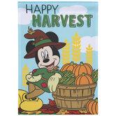 Happy Harvest Mickey Mouse Garden Flag