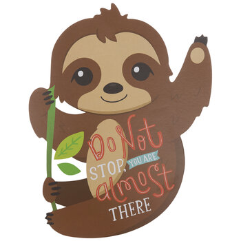 Almost There Sloth Wood Decor