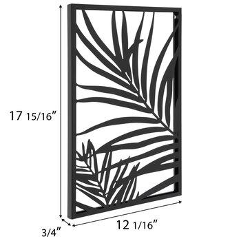 Black Cutout Leaf Metal Wall Decor