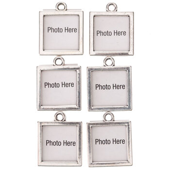 Square Picture Frame Charms