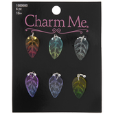 Multi-Color Ombre Glass Leaf Charms