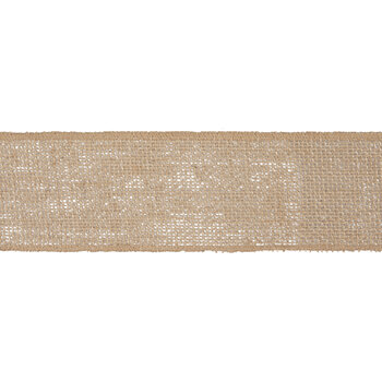 "Natural Burlap Wired Edge Ribbon - 2 1/2"""