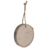 Round Wood Slice Ornaments