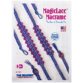 Purple Necklace & Bracelet Magic Lace Macrame Kit