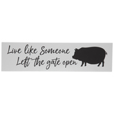 Inspirational Pig Silhouette Wood Decor