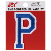 "Junior Varsity Letter Iron-On Applique - 2"""