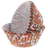 Orange & Brown Leaves Baking Cups