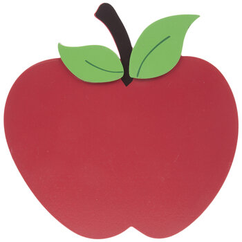 Red Apple Painted Wood Shape