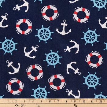 Nautical Cuteness Cotton Fabric