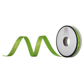 "Apple Green Chunky Glitter Cut Edge Ribbon - 3/8"""