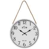 Coastal Metal Wall Clock