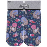 Sloth & Yarn Balls Floral Low Cut Socks