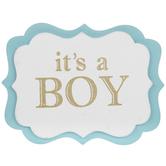It's A Boy Painted Wood Shape