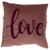 Pink & Purple Velvet Love Pillow