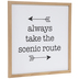 Always Take The Scenic Route Wood Wall Decor