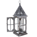 Gray Swiveling Door Wood Lantern