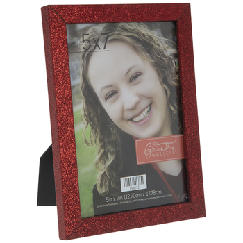 "Red Glitter Wood Frame - 5"" x 7"""