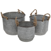 Ridged Metal Container Set