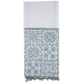 Floral Tile Kitchen Towel