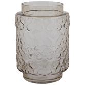Green Round Swirl Glass Vase