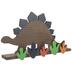 Stegosaurus Wood Wall Shelf
