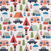 Cute Lil Camper Cotton Fabric