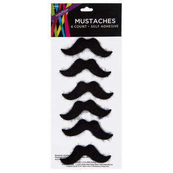 Black Self-Adhesive Mustaches