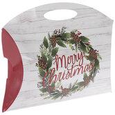Merry Christmas Wreath Pillow Box